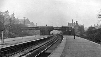 Belle Vue railway station - Belle Vue Station in 1962