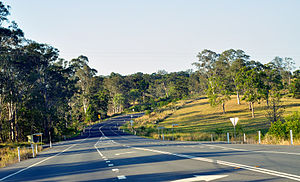 Sunshine Coast, Queensland - Rural road in Belli Park, 2013