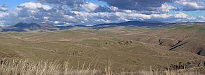 Benambra, Victoria - The Omeo Plains near Benambra from Mount Blowhard