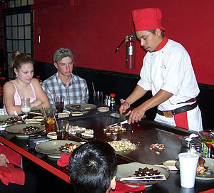 Benihana - A chef preparing a dinner at the table