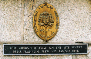 St. Stephen's Episcopal Church (Philadelphia) - Franklin Kite Plaque