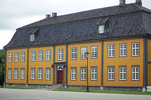 Kongsberg School of Mines -  Bergseminaret, Kongsberg, Norway. The building dates from 1783, and was restored in the 2000s.