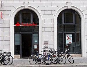 Banco Santander - A branch of Santander in Berlin, Germany