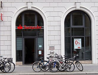 Banco Santander - A branch of Santander in Berlin, Germany