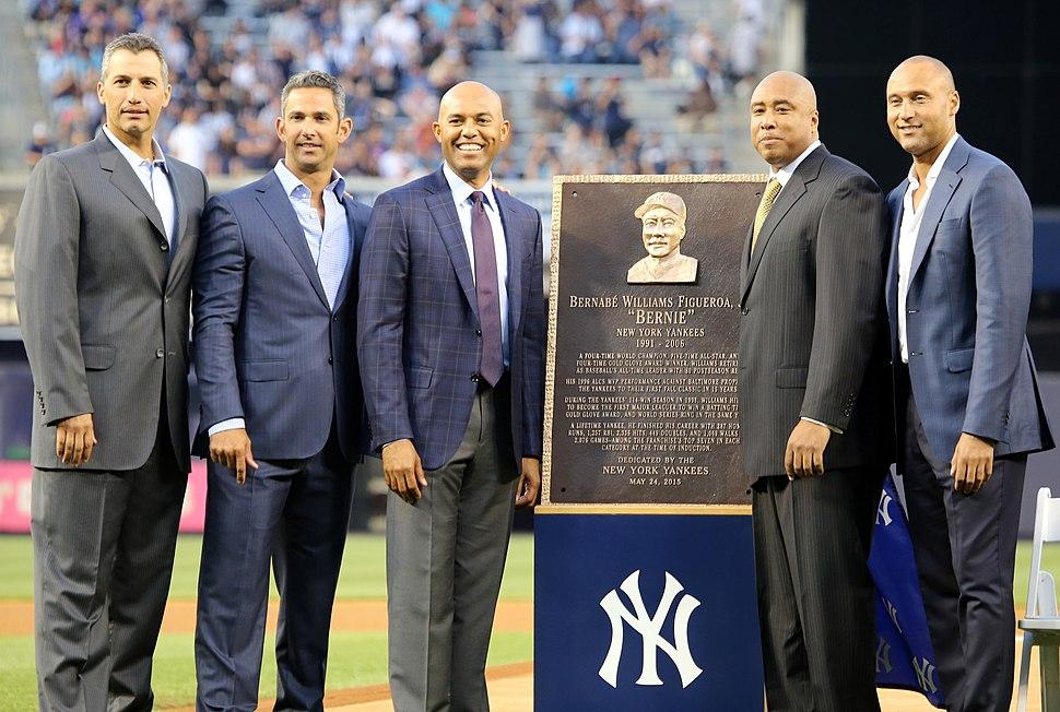 Bernie Williams plaque ceremony