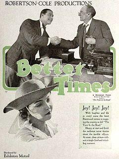 <i>Better Times</i> (film) 1919 film