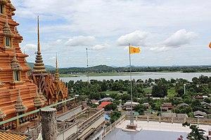 Tha Muang District - Muang Chum village, view from Wat Tham Seu