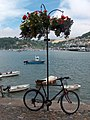 Bicycle and river scene, Dartmouth - geograph.org.uk - 1967318.jpg