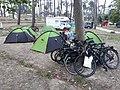Bicycle touring in Parque de Campismo da Figueira da Foz, Portugal.jpg