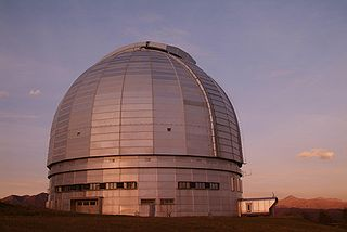 BTA-6 6 m aperture optical telescope at the Special Astrophysical Observatory located in the Zelenchuksky District on the north side of the Caucasus Mountains in southern Russia