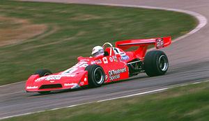 Bill Brack - Bill Brack at Edmonton International Speedway Formula Atlantic, 1975.