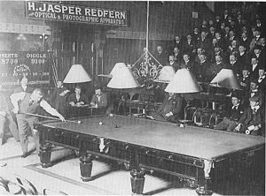 John Roberts Jr. (billiards player) - A billiards match between Roberts and Edward Diggle.