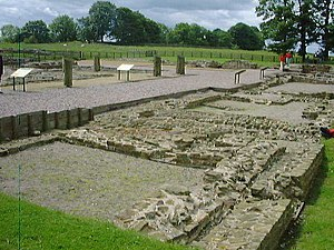 Cohors I Aelia Dacorum - Partial view of excavated remains of Roman Fort Banna (at Birdoswald, Cumbria, England). Cohors I Ælia Dacorum was stationed here for at least 150 years until AD 276, and probably for about a century thereafter