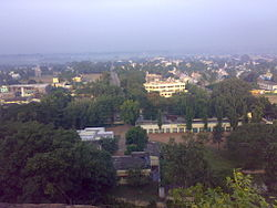 Bird's Eyeview of Kollegal City from Maradi Gudda.