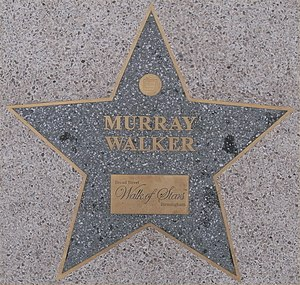 Murray Walker - Murray Walker's star on the Birmingham Walk of Stars