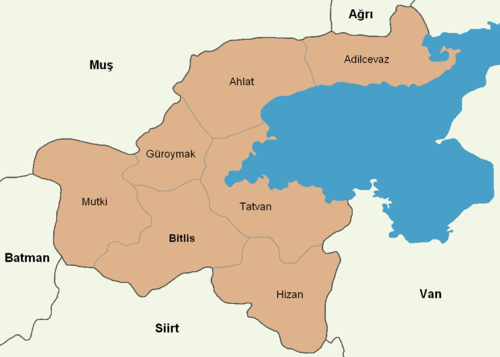 Bitlis location districts.png