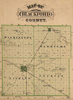 Hartford City Indiana Map.Blackford County Indiana Wikipedia