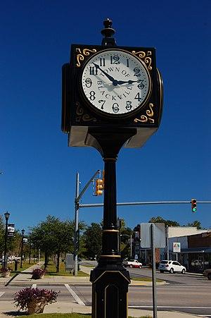 Blackville, South Carolina - Clock in downtown Blackville, SC