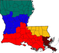 Blank Louisiana regions map.png