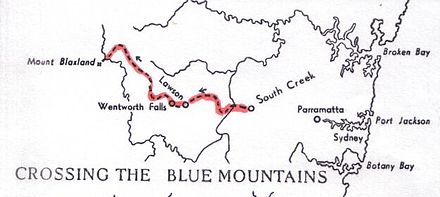 Blaxland's expedition to cross the Blue Mountains Blaxland-map.jpg