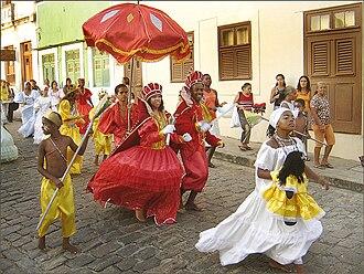 Maracatu - Maracatu Nação dancers.