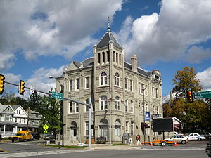 National Register of Historic Places listings in Columbia County, Pennsylvania - Image: Bloomsburg, Pennsylvania town hall