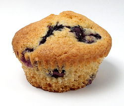 Blueberry muffin, unwrapped.jpg
