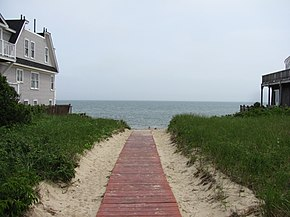 Boardwalk to Depot Street Beach, Dennis Port MA.jpg