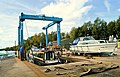 Boat lift at Thames and Kennet Marina (geograph 5901606).jpg
