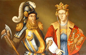 Bogislaw V, Duke of Pomerania - Bogislaw and Elisabeth Piast, his first wife