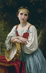 Bohémienne au tambour de basque, by William Bouguereau.jpg