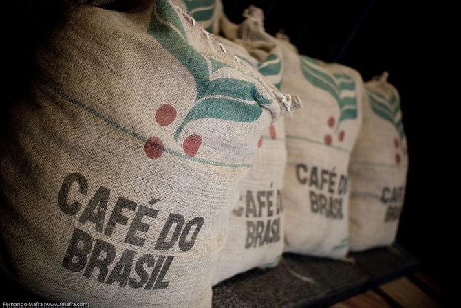 Coffe sacks in Bolsa do Café