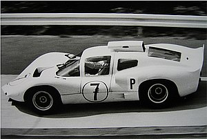 Chaparral Cars - Joakim Bonnier 1966 in the Chaparral 2D during practice at the Nürburgring