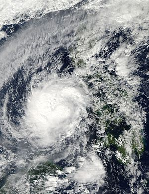 Typhoon Bopha - Typhoon Bopha near Palawan on December 5
