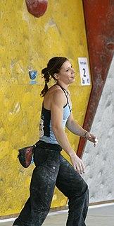 Mina Markovič Slovenian rock climber