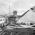 Bovenste gedeelte van de voorgevel en hoek van de rechter zijgevel van de synagoge te Arnhem, in de steigers, tijdens restauratie - Arnhem - 20350266 - RCE.jpg