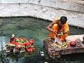 Brahmana performing puja Taptapani Orissa.JPG