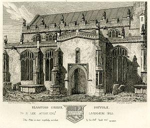 Henry Davy - Bramford Church, Suffolk, by Henry Davy