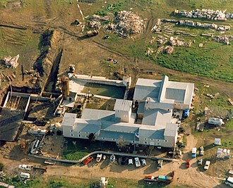 Waco siege - The Branch Davidian compound during the siege