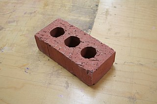 Brick Block or a single unit of a ceramic material used in masonry construction