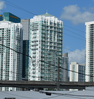 Brickell on the River - From the west in 2012