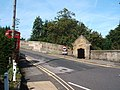Bridge at Baslow, with toll booth and telephone box - geograph.org.uk - 1430872.jpg