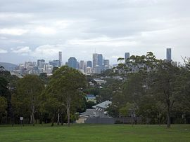 Brisbane central business district seen from Norman Park.jpg