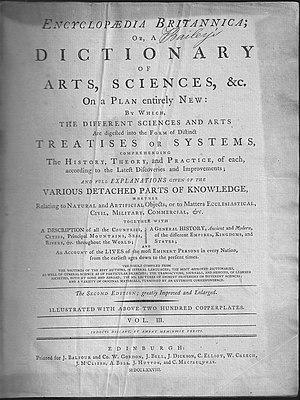 Encyclopædia Britannica Second Edition - Second edition, Volume 3