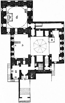 Britannica Mosque - Sultan Káit-Bey Cairo mosque-tomb plan.jpg
