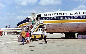 British Caledonian in the 1970s - British Caledonian Boeing 707-320C at Gatwick Airport June 1975.