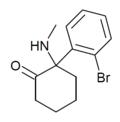 Bromoketamine structure.png