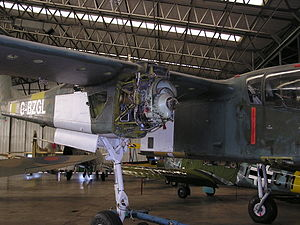 North American Rockwell OV-10 Bronco - Engine installation on OV-10B Bronco