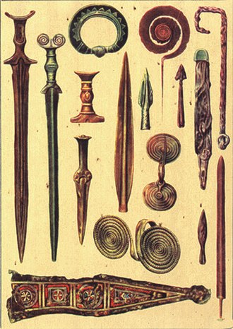 Chronology of bladed weapons -  Weapons of the age of Bronze, Romania