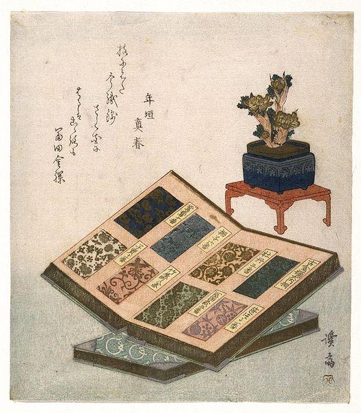 File:Brooklyn Museum - Sample Books of Brocade Designs (Kinran Mihoncho zu) - Keisai Eisen.jpg